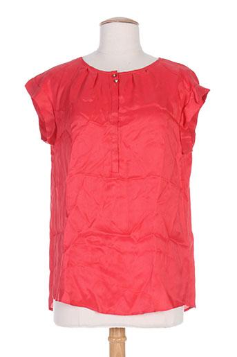 pablo gerard darel chemises femme de couleur rouge