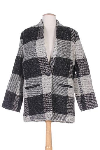 suncoo manteaux femme de couleur noir