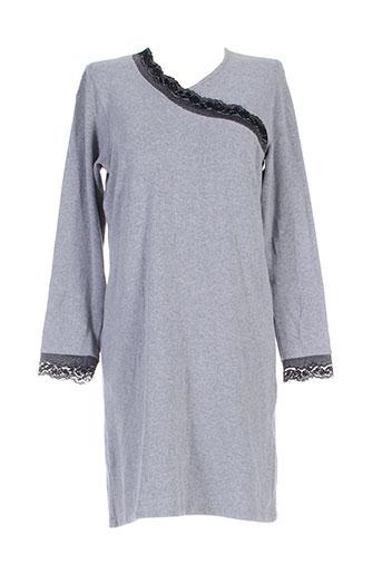 christian et cane chemises et de et nuit femme de couleur gris