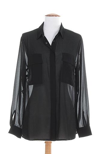 ninati chemises femme de couleur noir