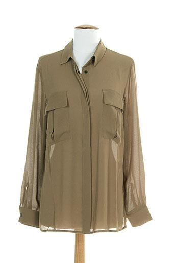 ninati chemises femme de couleur marron