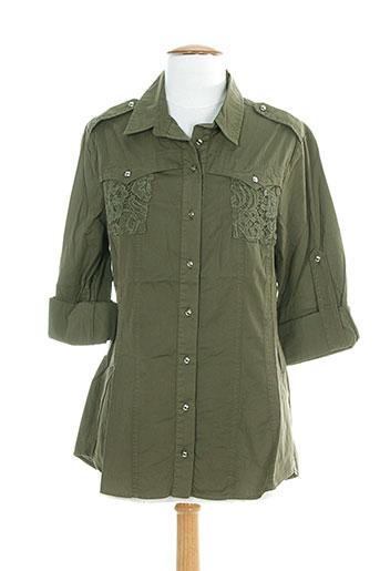 ninati chemises femme de couleur vert