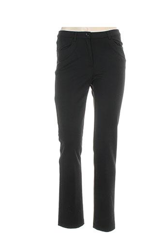 ninati pantalons femme de couleur noir
