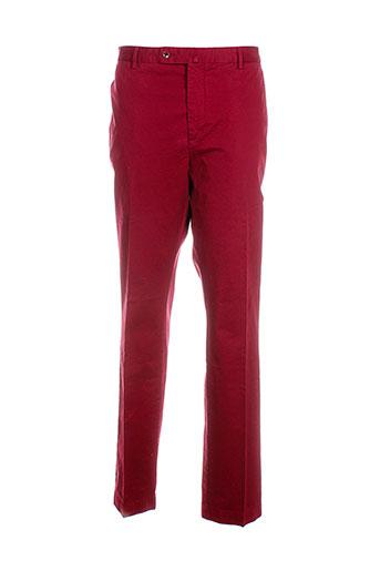 hackett pantalons et decontractes homme de couleur rouge