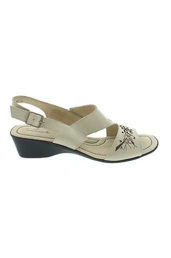 luxat sandales et nu et pieds femme de couleur beige