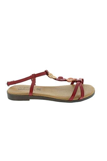 spk sandales et nu et pieds femme de couleur rouge