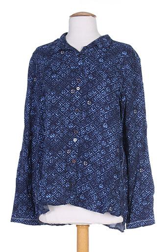 cecil chemises femme de couleur bleu