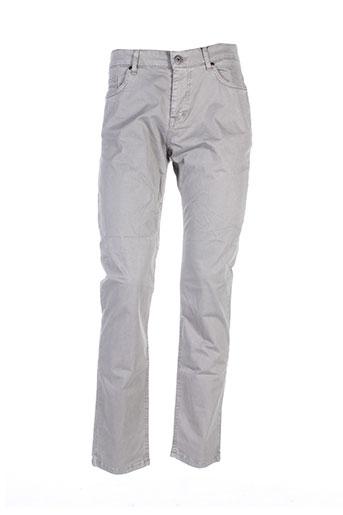 lerros pantalons homme de couleur gris
