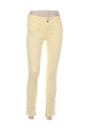 kocca pantalons femme de couleur jaune