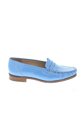 maurice et manufacture mocassins femme de couleur bleu