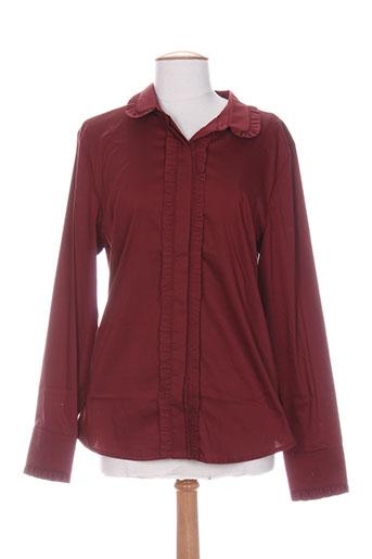 exetera chemises femme de couleur rouge