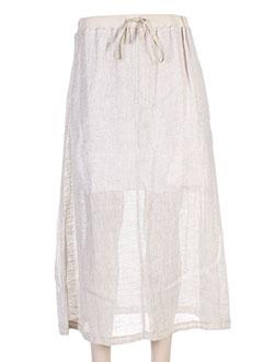 Jupe longue beige MALOKA pour femme
