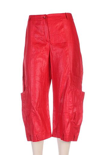3322 pantacourts femme de couleur rouge