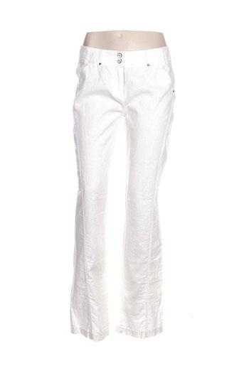 salt EFFI_CHAR_1 pepper pantalons femme de couleur blanc