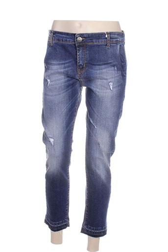 r jeans jeans femme de couleur bleu