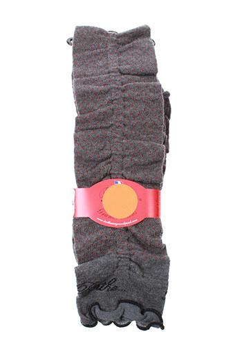 berthe et aux et grands et pieds echarpes et gants femme de couleur rose