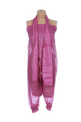 goa pantalons femme de couleur rose