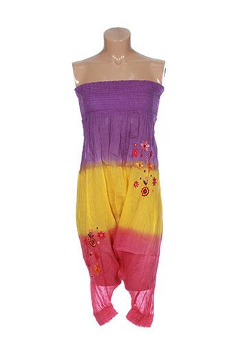 goa pantalons femme de couleur violet