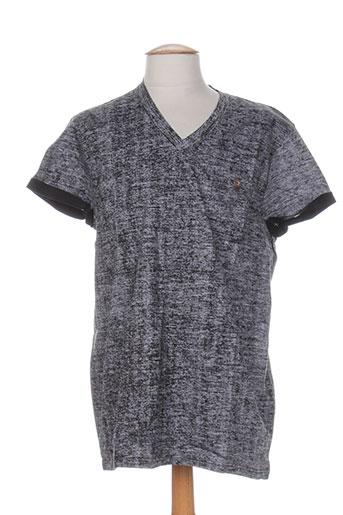 T-shirt manches courtes noir RELAY JEANS pour homme