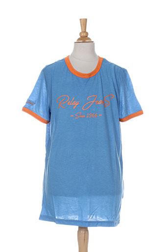 relay jeans t-shirts garçon de couleur bleu