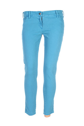 masscob pantalons femme de couleur bleu
