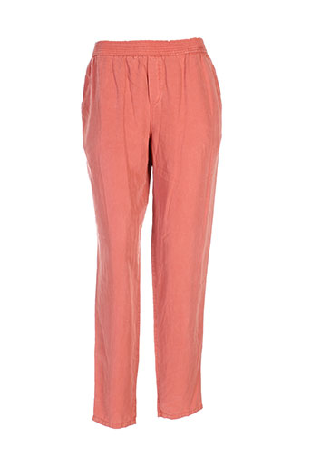 masscob pantalons femme de couleur rouge