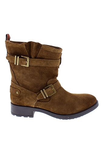 pepe et jeans boots femme de couleur marron