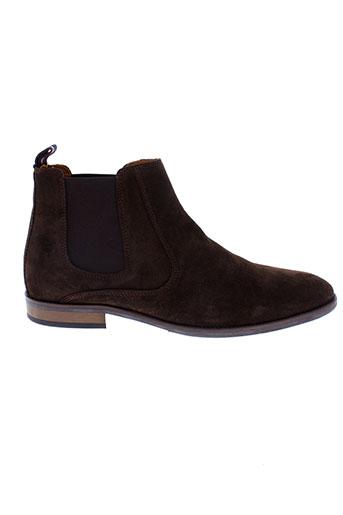 tommy et hilfiger boots homme de couleur marron