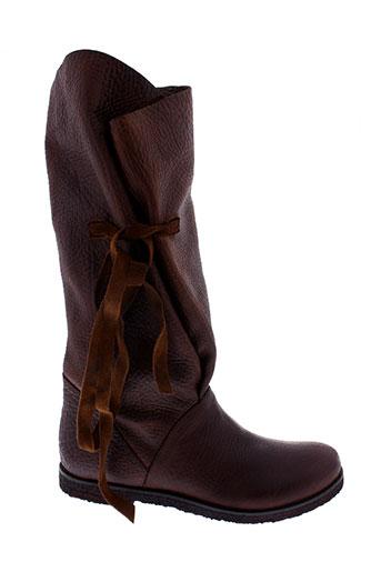 papucei bottes femme de couleur marron