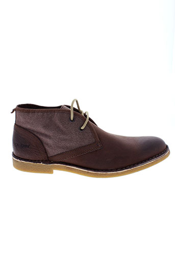 kickers boots homme de couleur marron