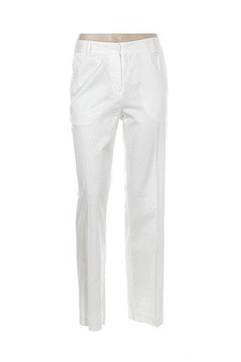 brandtex pantalons et citadins femme de couleur blanc