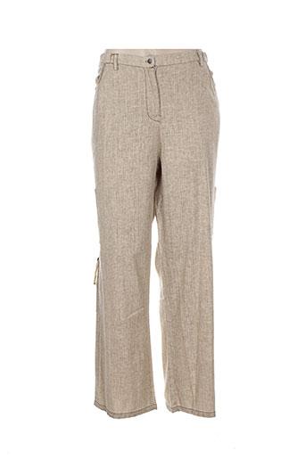 alexo pantalons et decontractes femme de couleur beige