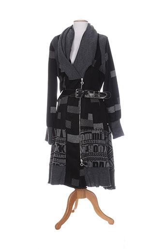 bai et amour manteaux et longs femme de couleur noir