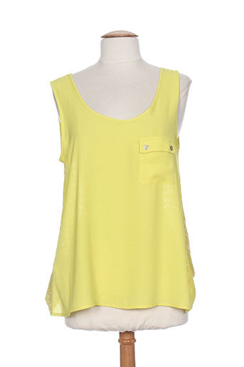 andamio chemises femme de couleur jaune