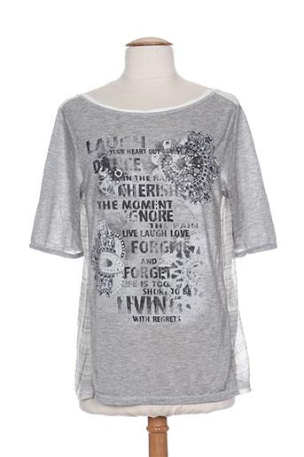 cristina gavioli chemises femme de couleur gris