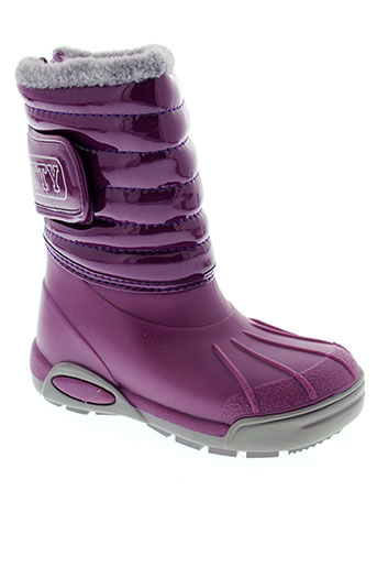 tty boots fille de couleur violet