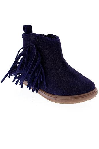 acebos boots fille de couleur bleu