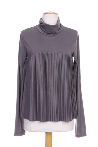 hel-s chemises femme de couleur gris