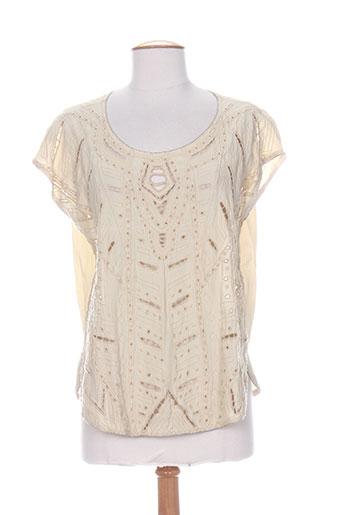 charlie joe chemises femme de couleur beige