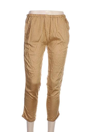 redsoul pantacourts femme de couleur beige