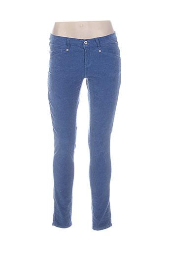mer du nord pantalons femme de couleur bleu