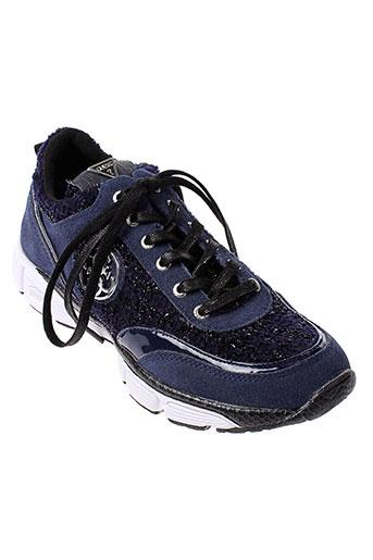 guess baskets femme de couleur bleu