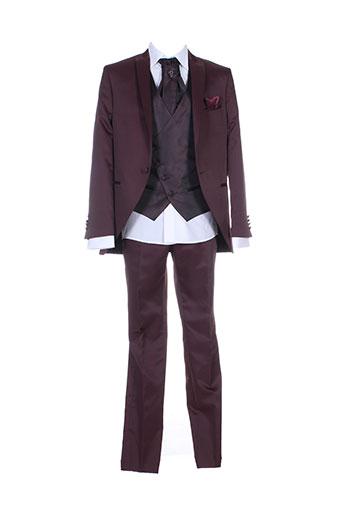 adimo costumes homme de couleur rouge