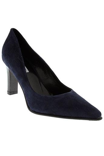donna et piu escarpins femme de couleur bleu