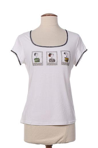 olivier philips t-shirts femme de couleur blanc