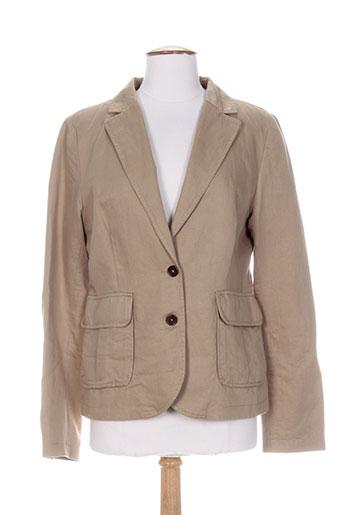 gant vestes femme de couleur marron