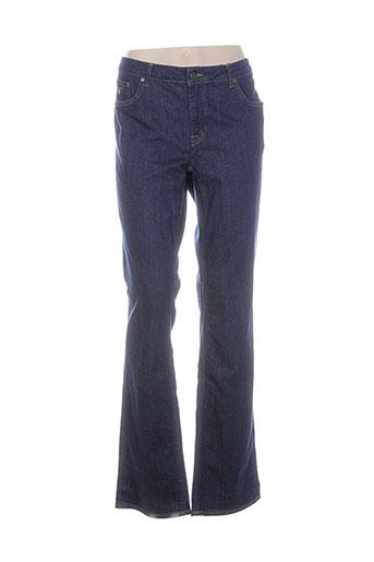 gant jeans femme de couleur bleu