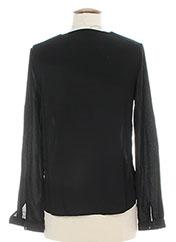 Blouse manches longues noir BY MONSHOWROOM pour femme seconde vue