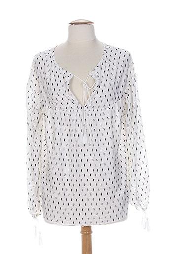 by monshowroom chemises femme de couleur blanc