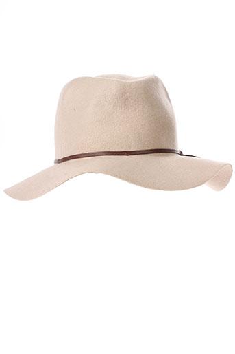 esprit chapeaux et bonnets femme de couleur beige